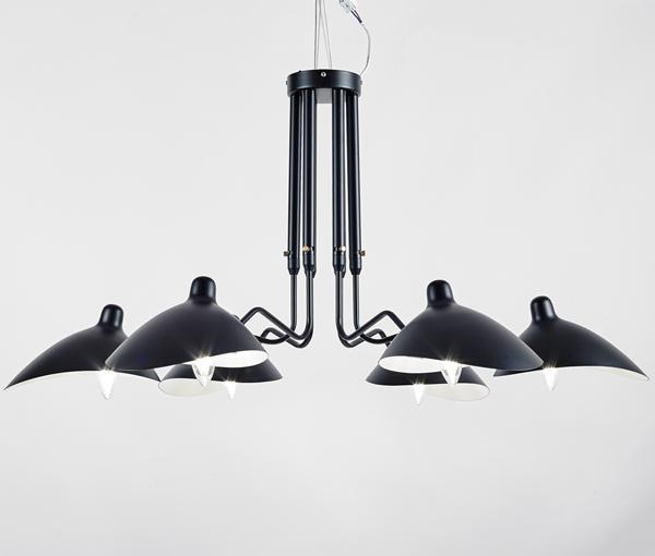 加多代简约设计师后现代张牙舞爪六头吊灯