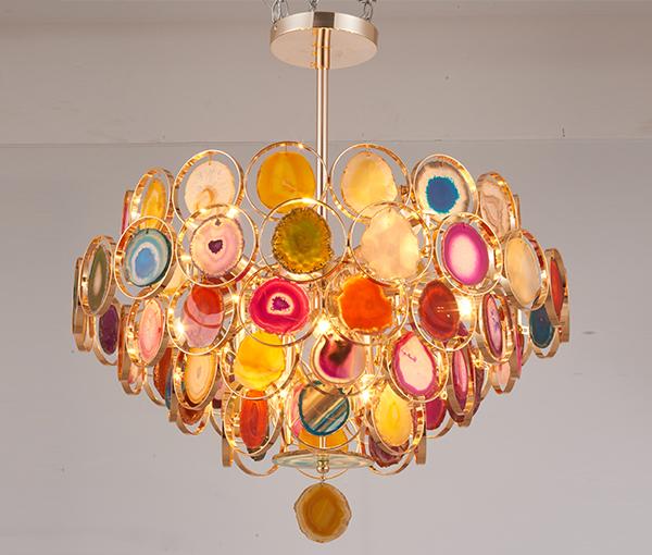加多代轻奢设计感巴西玛瑙灯