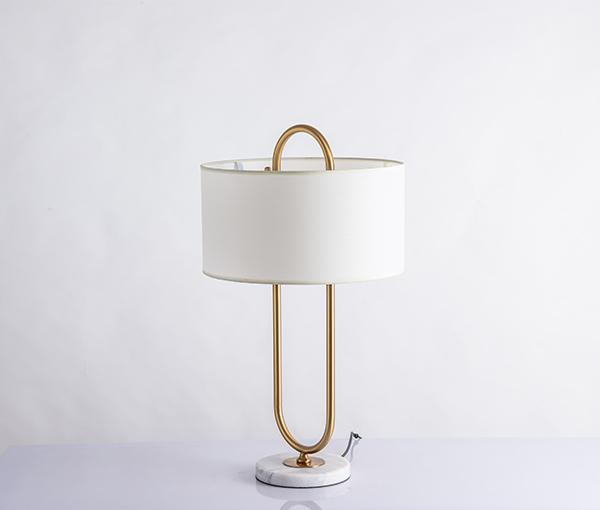 加多代XJC1077大理石布艺简约美式台灯