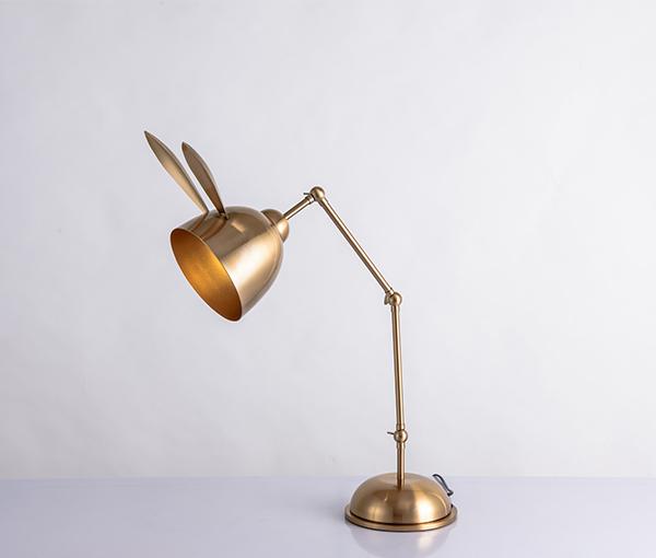 加多代XJC1131可爱猫耳朵兔耳朵金色台灯
