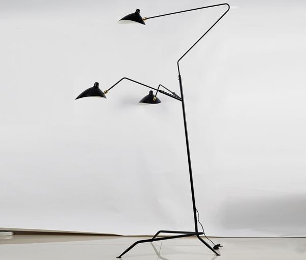 加多代后现代设计师张牙舞爪三头落地灯