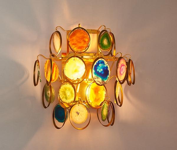 加多代轻奢设计感新款巴西玛瑙壁灯