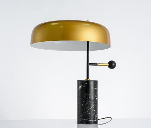 加多代XJC1151大理石金色帽子美式简约台灯