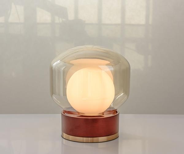 加多代XJC8876-T玻璃方形龙珠简约后现代美式台灯